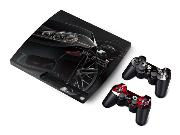 gran turismo 5 sticker skin cover 4 sony ps3 slim 2rc ebay. Black Bedroom Furniture Sets. Home Design Ideas